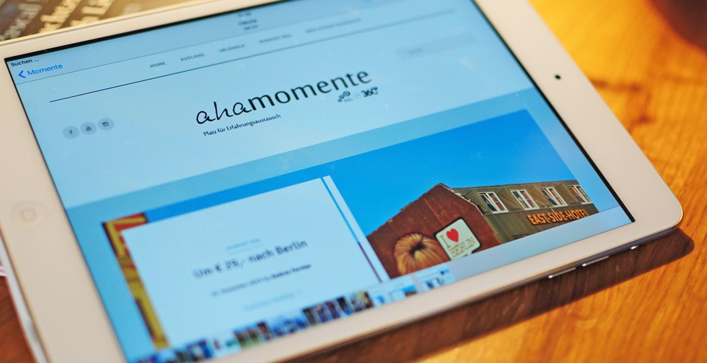 aha-Blog am Tablet